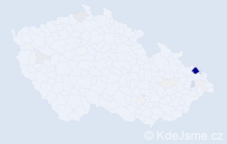 Příjmení: 'Cigán', počet výskytů 60 v celé ČR