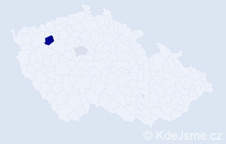 Příjmení: 'Gančík', počet výskytů 3 v celé ČR
