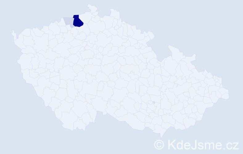 Příjmení: 'Baftijar', počet výskytů 17 v celé ČR