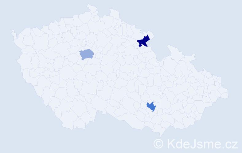Příjmení: 'Charitonov', počet výskytů 5 v celé ČR