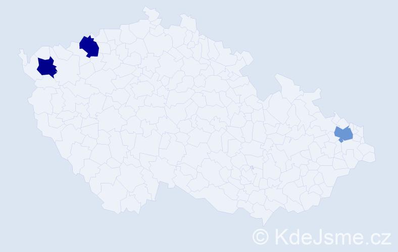 Příjmení: 'Illes', počet výskytů 3 v celé ČR