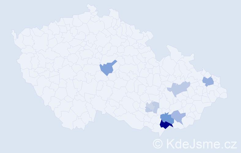 Příjmení: 'Balus', počet výskytů 29 v celé ČR