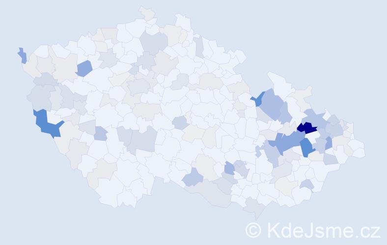 Příjmení: 'Jahn', počet výskytů 525 v celé ČR