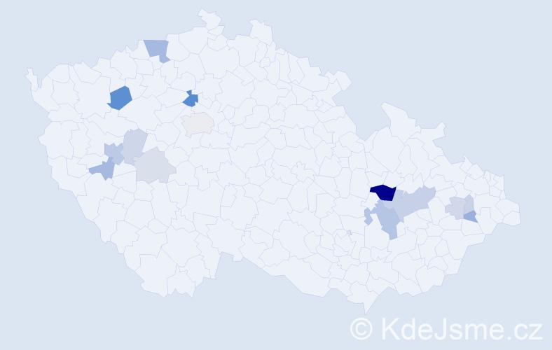Příjmení: 'Cholinská', počet výskytů 35 v celé ČR
