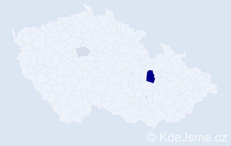 Příjmení: 'Besson', počet výskytů 7 v celé ČR