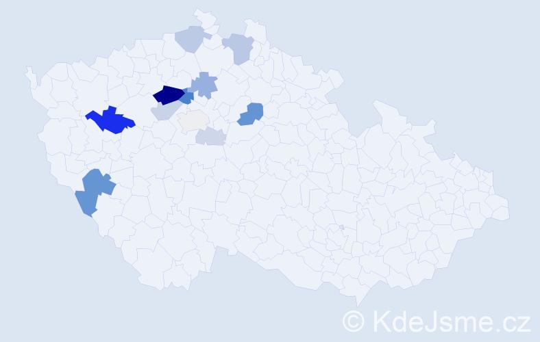 Příjmení: 'Ekert', počet výskytů 37 v celé ČR