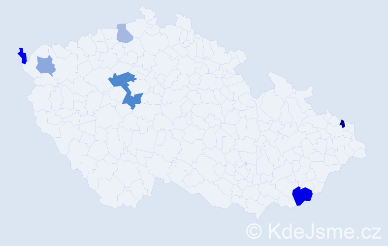 Příjmení: 'Bandriová', počet výskytů 14 v celé ČR