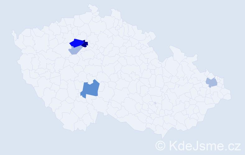 Příjmení: 'Grosmann', počet výskytů 9 v celé ČR