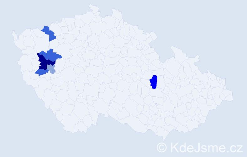 Příjmení: 'Círlová', počet výskytů 12 v celé ČR