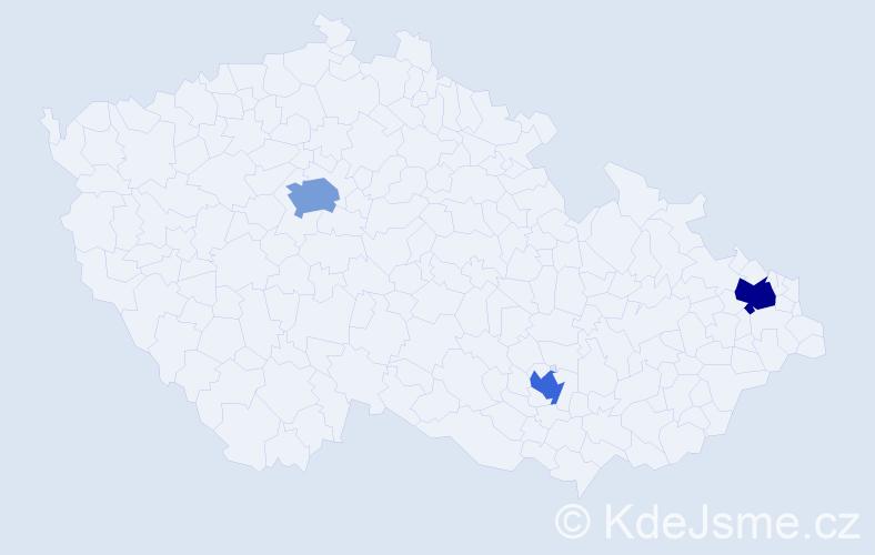 Příjmení: 'Hlínka', počet výskytů 8 v celé ČR