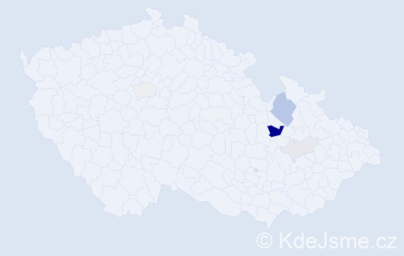 Příjmení: 'Höpflerová', počet výskytů 13 v celé ČR