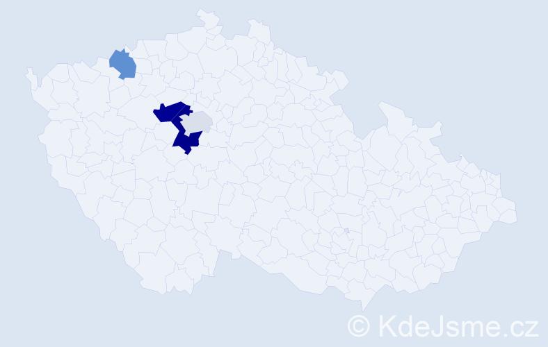 Příjmení: 'Jednorožec', počet výskytů 8 v celé ČR