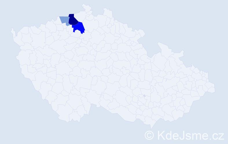 Příjmení: 'Freigang', počet výskytů 7 v celé ČR