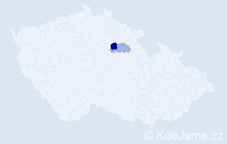 Příjmení: 'Čočuová', počet výskytů 2 v celé ČR