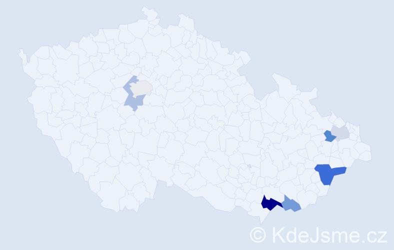 Příjmení: 'Kobéda', počet výskytů 13 v celé ČR
