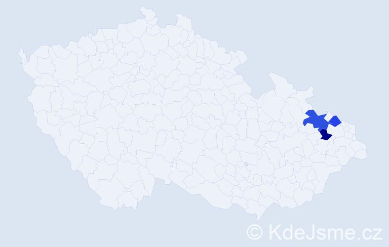 Příjmení: 'Kaschný', počet výskytů 4 v celé ČR