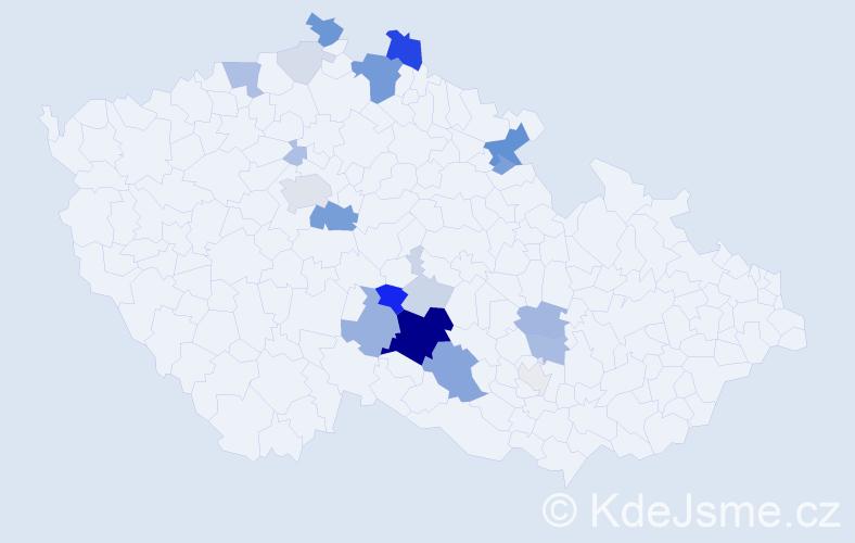 Příjmení: 'Eiglová', počet výskytů 72 v celé ČR