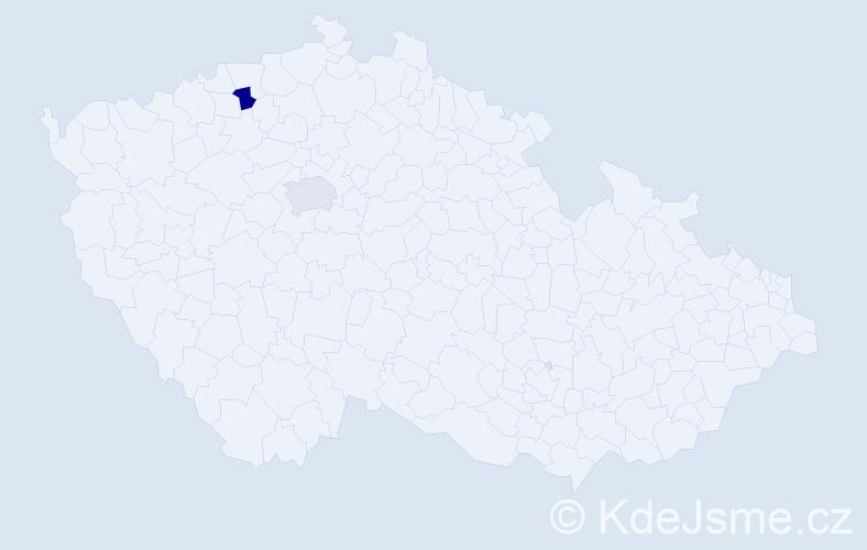 Příjmení: 'Csurilová', počet výskytů 2 v celé ČR