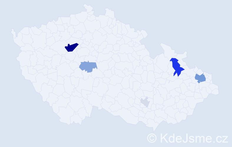 Příjmení: 'Kaps', počet výskytů 16 v celé ČR