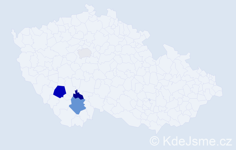 Příjmení: 'Christelbauerová', počet výskytů 8 v celé ČR