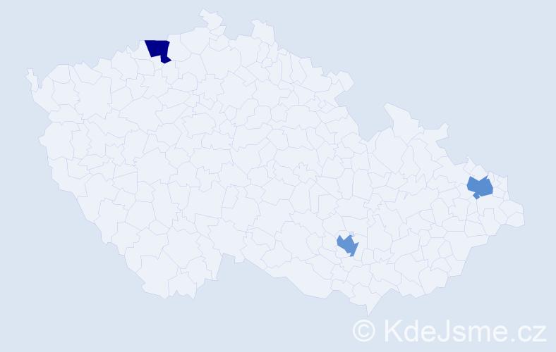 Příjmení: 'Erkanová', počet výskytů 3 v celé ČR