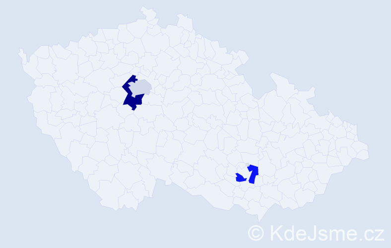 Příjmení: 'Eden', počet výskytů 4 v celé ČR