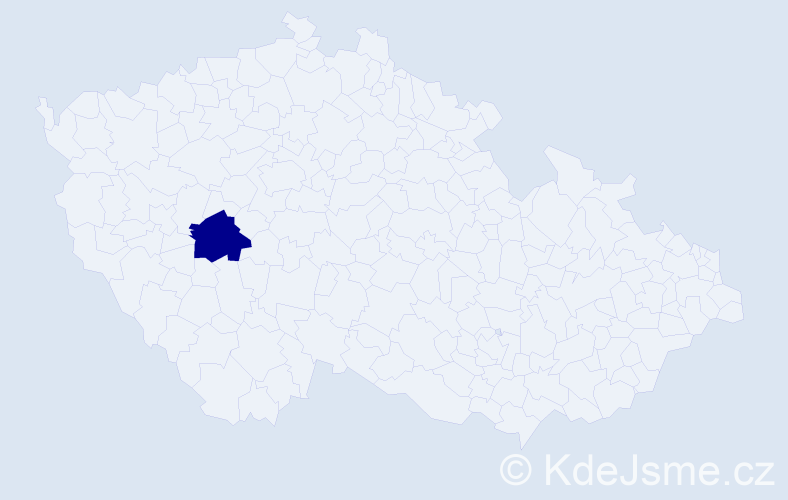 """Příjmení: '""""Garrido Muzikářová""""', počet výskytů 1 v celé ČR"""