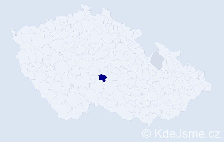 Příjmení: 'Eremková', počet výskytů 16 v celé ČR