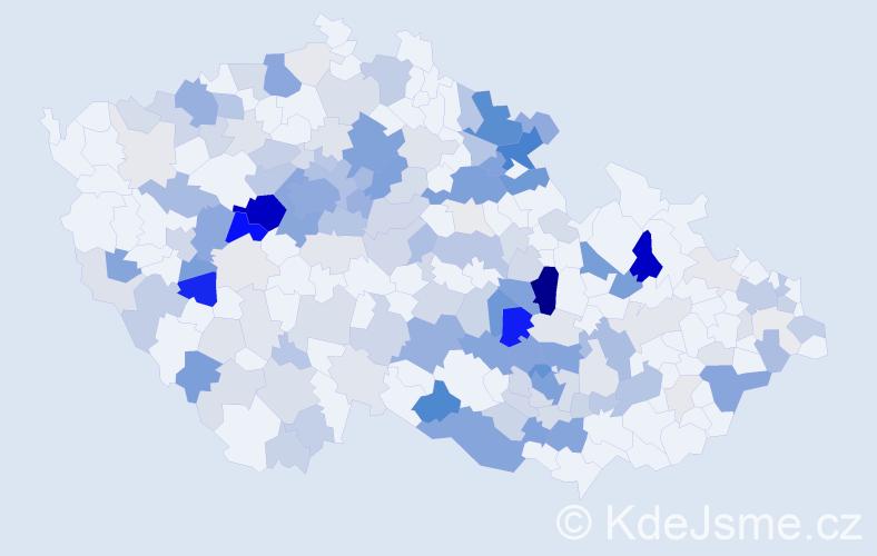 Příjmení: 'Kinclová', počet výskytů 565 v celé ČR