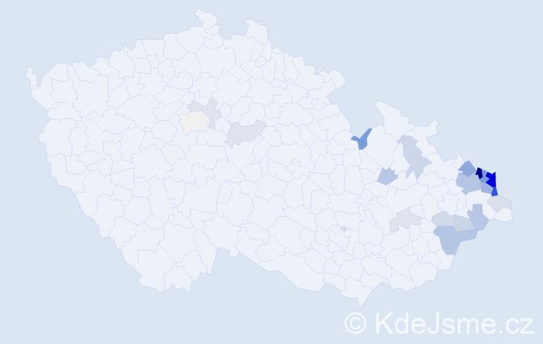 Příjmení: 'Grobelná', počet výskytů 75 v celé ČR