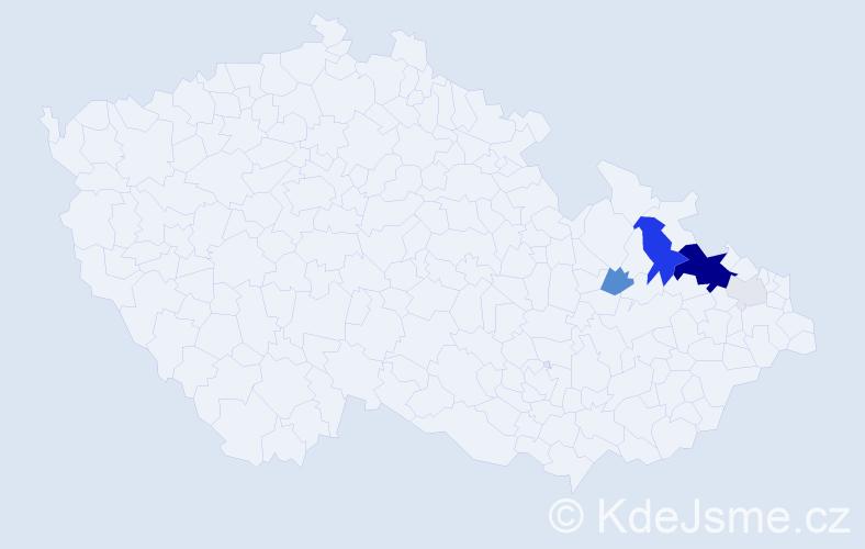 Příjmení: 'Foltisová', počet výskytů 24 v celé ČR