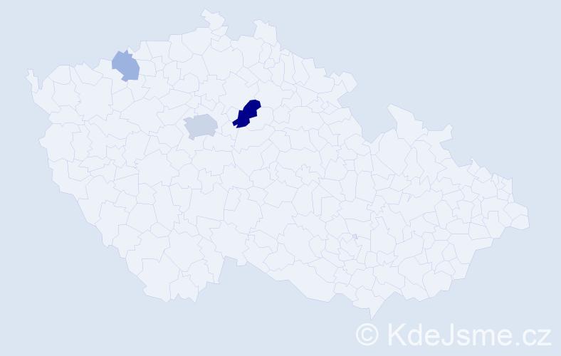 Příjmení: 'Bobůrka', počet výskytů 8 v celé ČR
