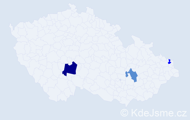Příjmení: 'Jonak', počet výskytů 4 v celé ČR
