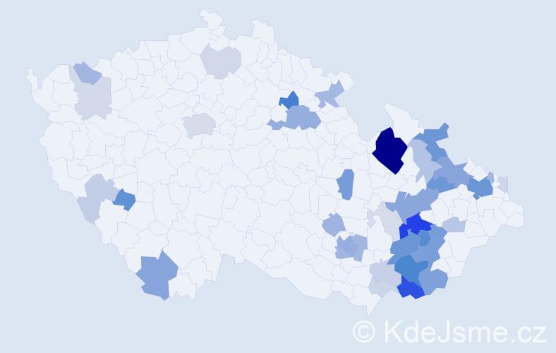 Příjmení: 'Flašarová', počet výskytů 127 v celé ČR