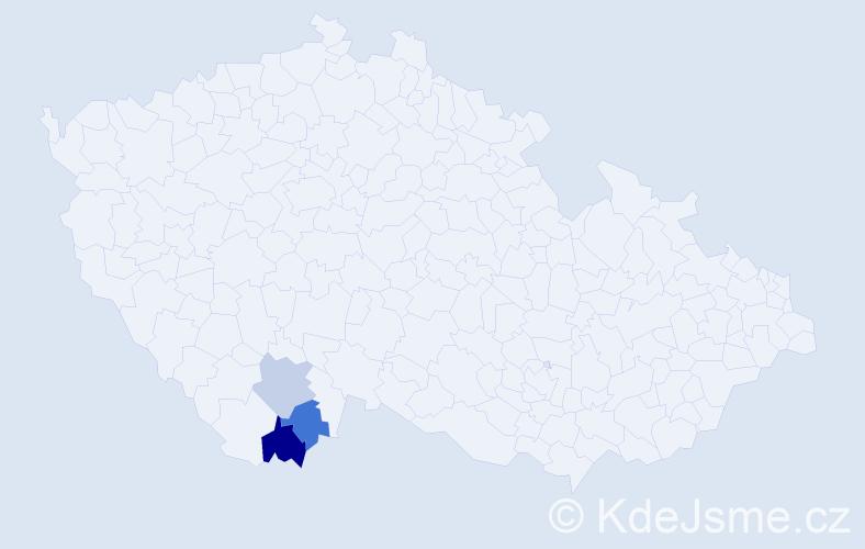 Příjmení: 'Lepschi', počet výskytů 4 v celé ČR