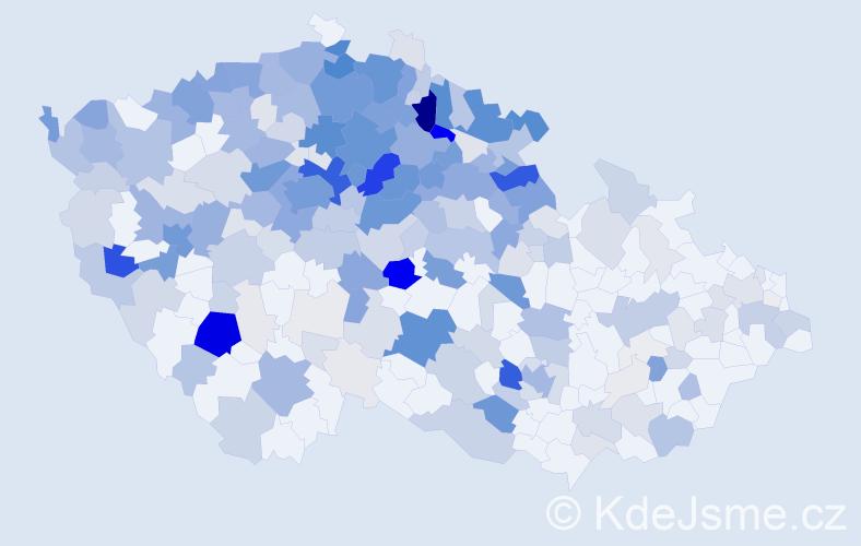 Příjmení: 'Hradecká', počet výskytů 1209 v celé ČR