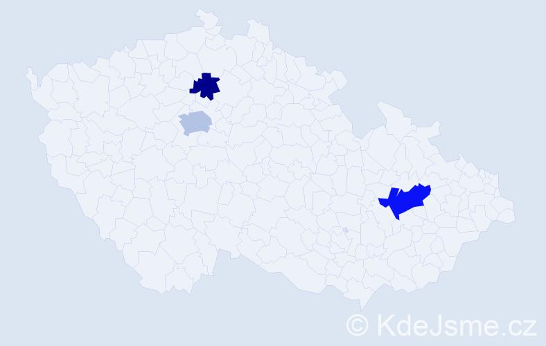 Příjmení: 'Berni', počet výskytů 10 v celé ČR