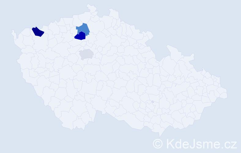 Příjmení: 'Arazím', počet výskytů 4 v celé ČR