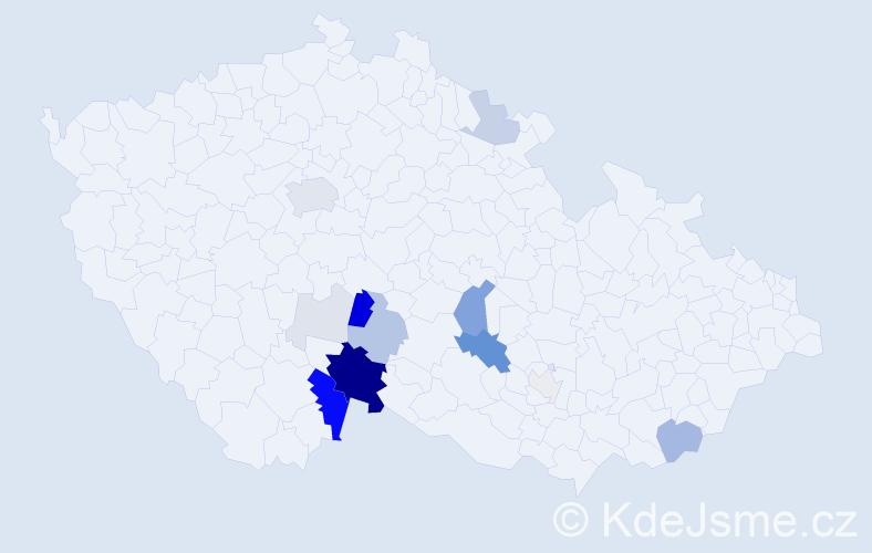 Příjmení: 'Fical', počet výskytů 53 v celé ČR