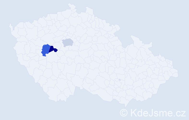 Příjmení: 'Úmon', počet výskytů 4 v celé ČR