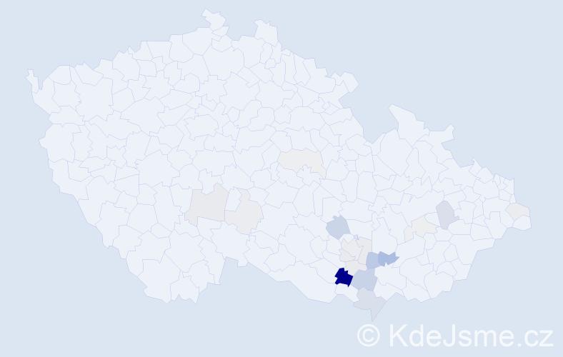 Příjmení: 'Celnar', počet výskytů 62 v celé ČR