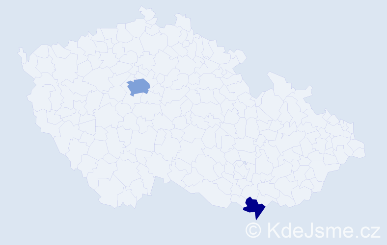 Příjmení: 'Hančak', počet výskytů 4 v celé ČR
