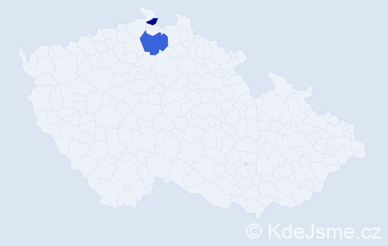 Příjmení: 'Čubiňák', počet výskytů 6 v celé ČR