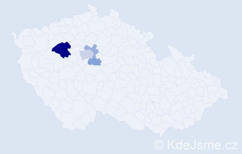 Příjmení: 'Galó', počet výskytů 10 v celé ČR