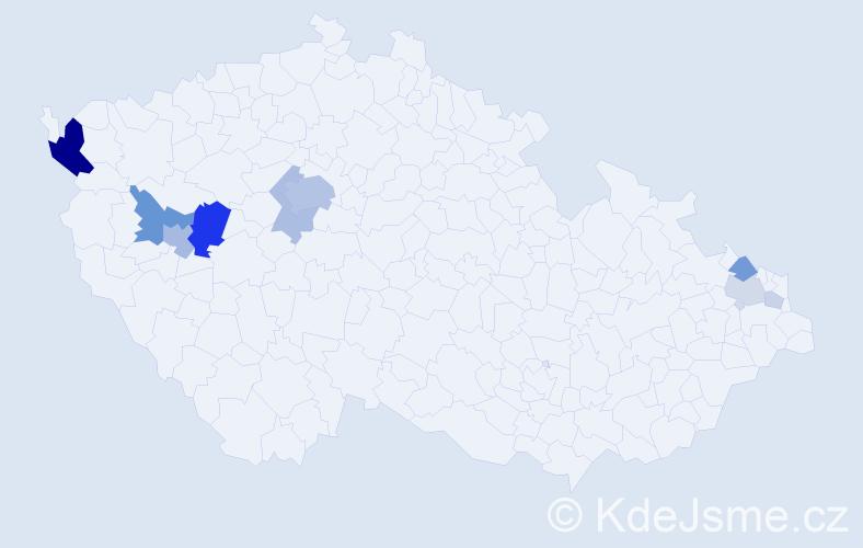 Příjmení: 'Desort', počet výskytů 39 v celé ČR