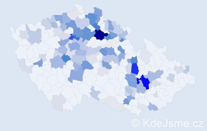 Příjmení: 'Lachman', počet výskytů 451 v celé ČR