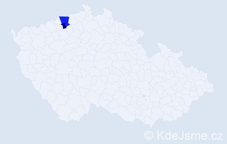 Příjmení: 'Lachner', počet výskytů 4 v celé ČR
