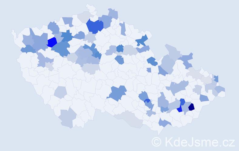 Příjmení: 'Bielik', počet výskytů 197 v celé ČR