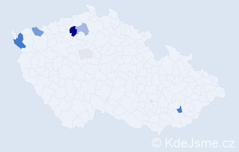 Příjmení: 'Ištvaníková', počet výskytů 12 v celé ČR