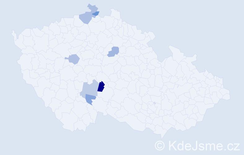 Příjmení: 'Karkule', počet výskytů 23 v celé ČR